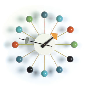 Colorful midcentury clock designed by George Nelson