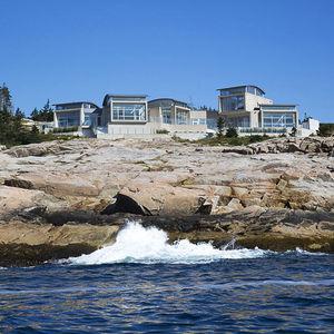 Modern Nova Scotia home overlooking the ocean.