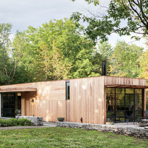 Upstate New York small sustainable retreat for Chilewich and Sultan facade
