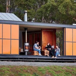 Galvanized steel exterior of Tasmanian home by Misho+Associates.