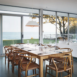 invisible plan dining area custom table carl hansen and son pendant lamp