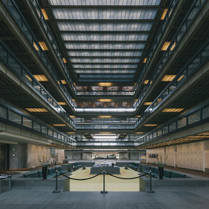 labor of love bell works new jersey eero saarinen revamp restored lobby sunken