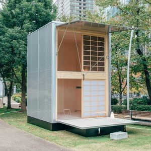 Muji Hut prefab home designed by Konstantin Grcic, 2015.