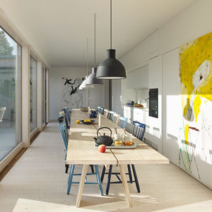 natural instinct swedish family home kitchen table unfold pendants muuto lilla aland chairs stolab  0
