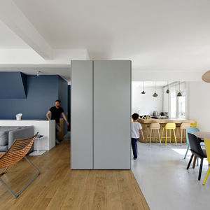Upper floor of a renovated apartment in Paris