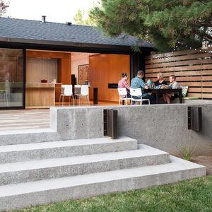radical vision indoor outdoor kitchen renovation reno ikea chairs cb2 table kawner door ipe deck