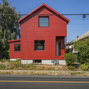 Red House facade windows