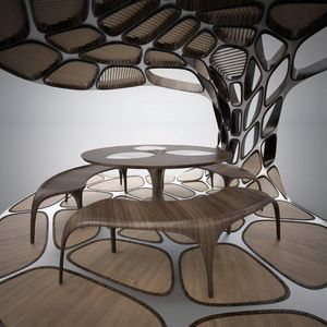 Volu Dining Pavilion by Zaha Hadid and Patrik Schumacher