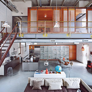 santos residence chicago renovation open living area