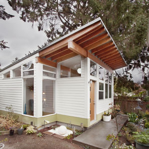 Exterior facade of a Seattle backyard studio