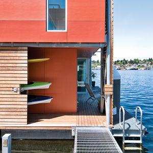 seattles mariners floating house prefab facade exterior fiber cement panels