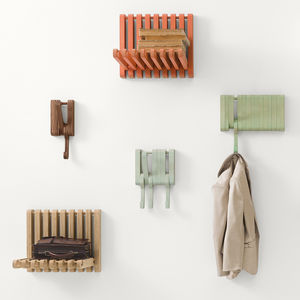 stash and grab kitchen organization hidden wall hooks sculptures jeux beech oak walnut hanging