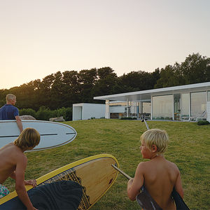 surf and turf sweden family dream getaway facade glass roof