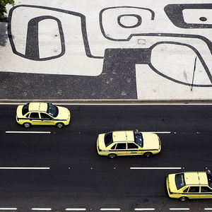 The sidewalks of Copacabana in Rio De Janero, Brazil, designed by Roberto Burle Marx