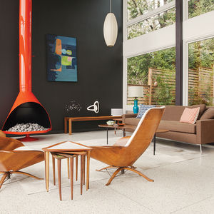 modern renovation aqua lair cigar lamp malm fireplace living room