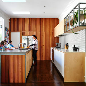 Renovated kitchen at a Melbourne bungalow